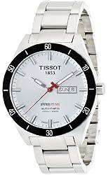 Tissot Men's T0444302103100 T-Sport PRS 516 Silver Day Date Dial Watch
