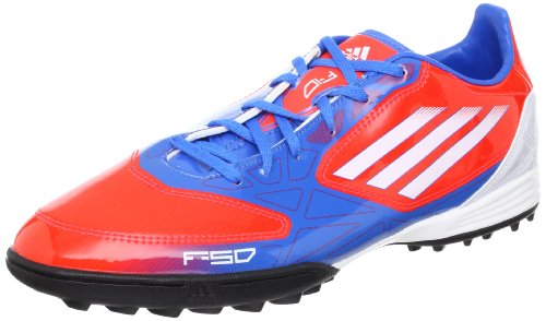 Adidas F10 TRX TF Fussballschuhe infrared-running white-bright blue - 42 2/3