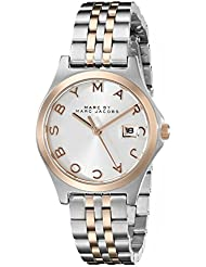 Marc by Marc Jacobs Womens MBM3353 Slim Two-Tone Stainless Steel Watch with Link Bracelet