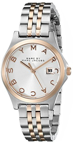 Marc by Marc Jacobs Women's MBM3353 Slim Two-Tone Stainless Steel Watch with Link Bracelet