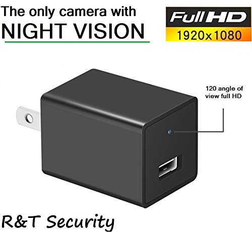 Night Vision Spy Camera Charger - Hidden Camera Adapter - Mini Spy Camera 1080p - USB Charger Camera - Hidden Spy Camera - Hidden Nanny Cam - Hidden Spy Cam with Infrared (Infrared Camera Usb)