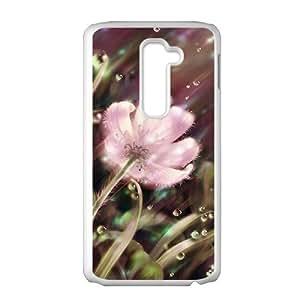 Rain pink dimmed flowers Phone Case for LG G2