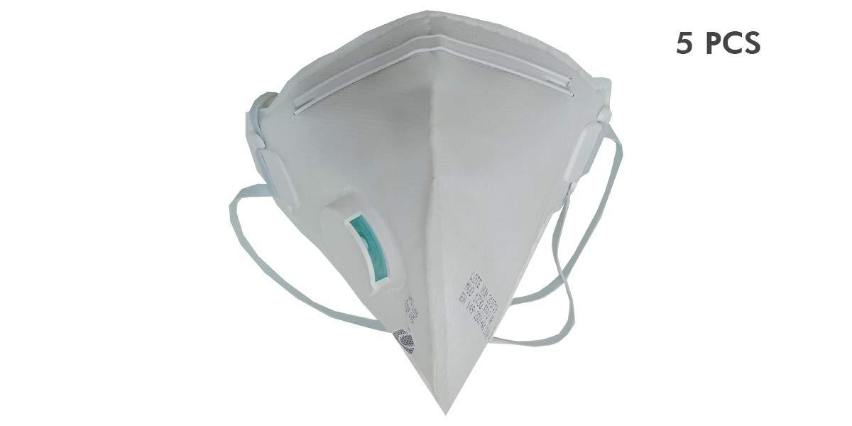 Mascarilla alta proteccion filtro FFP3 EN STOCK ENTREGA 24/48 h. Normativa EN 149:2001+A1:2009 N95 con valvula. 5 unidades. Fabricadas en España