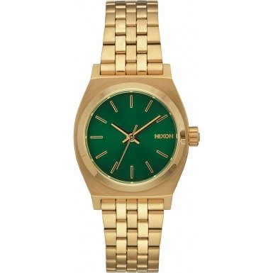 Nixon A399-1919 Ladies Small Time Teller Gold Plated Watch