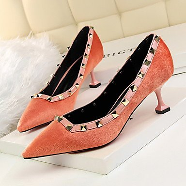 CN37 EU37 5 5 Stiletto US6 5 Heel Comfort Horse Spring 7 Dress Fall Women'sHeels UK4 Hair UnxwTZP4zq