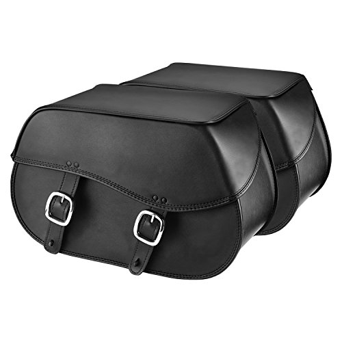 Nomad USA Extra-Large Leather Throw-Over Motorcycle Saddlebags (Plain) ()