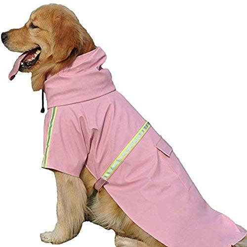 JYHY Dog Raincoat Adjustable Reflective Waterproof Lightweight Dog Rain Jacket with Hood for Small Medium Large Dogs,Pink 5XL by JYHY (Image #5)