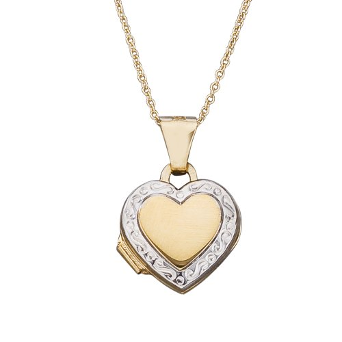 14k Gold Heart Locket Children's Necklace 15'' by Kids Gold Jewelry Source