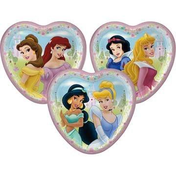 (Disney's Princess Fairy Tale Friends Heart Shaped Dessert Plates Asst. (8 count) )
