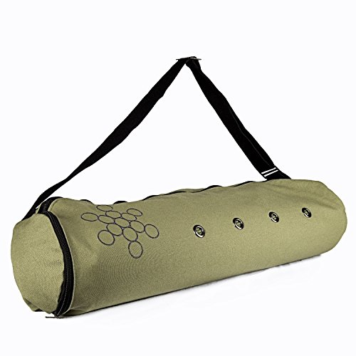 Peace Yoga Air Vent Yoga Mat Bag Grean Circles