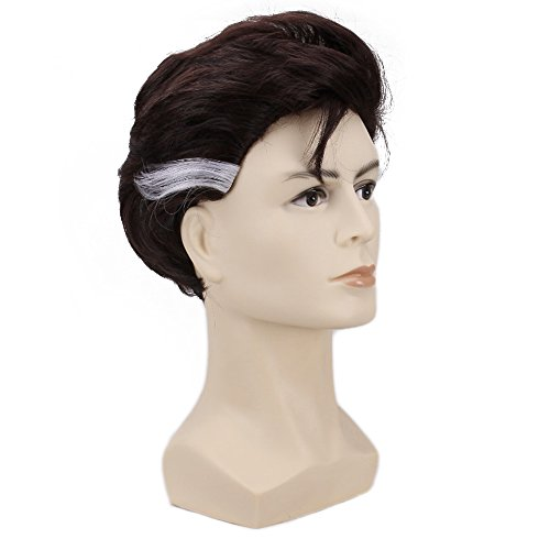 Hair Cap+ Halloween Cosplay Wig White Synthetic Hair Costume Wigs