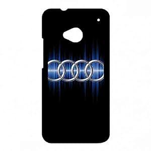Hard Back Shell Htc One M7 Phone carcasa de telefono Luxury Brand Audi Logo Phone carcasa de telefono