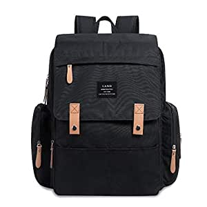 Genuine LAND Multifunctional Baby Diaper Backpack Changing Bag Nappy Mummy 2019 - Black