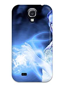 Tpu Case Cover For Galaxy S4 Strong Protect Case - Blue Witch Design