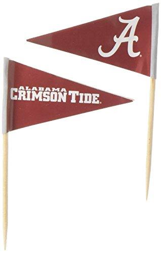 NCAA Alabama Crimson Tide ToothpicksToothpicks 36 Piece Pennant Style FanPicks, Team Colors, One Size