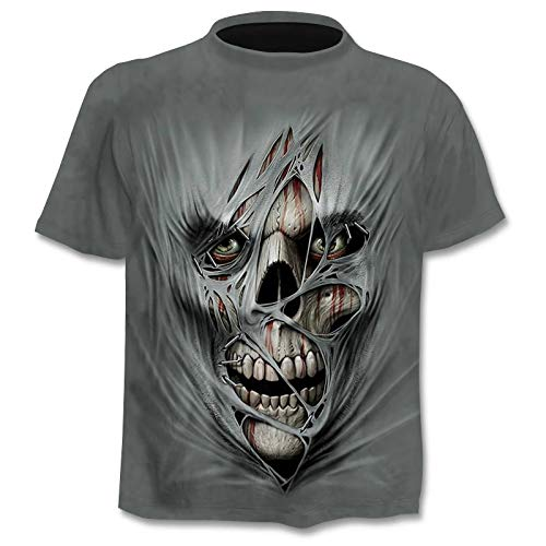 Gun Warrior Skull Tshirt Cloudstyle Design Men's T Shirt 3D Print Knife Harajuku Tops Tee Short Sleeve Fitness t-Shirt
