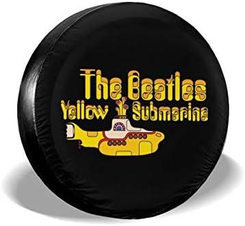 イエローサブマリン ザ・ビートルズ The Beatles Yellow Submarine Wall Decals へタイヤカバー タイヤカバー スペアタイヤカバー タイヤ袋 へタイヤバッグ タイヤトート へタイヤ ホイール 保管 タイヤ 収納 に便利 防紫外線 防塵 防水 厚手生地 劣化対策 長持ち