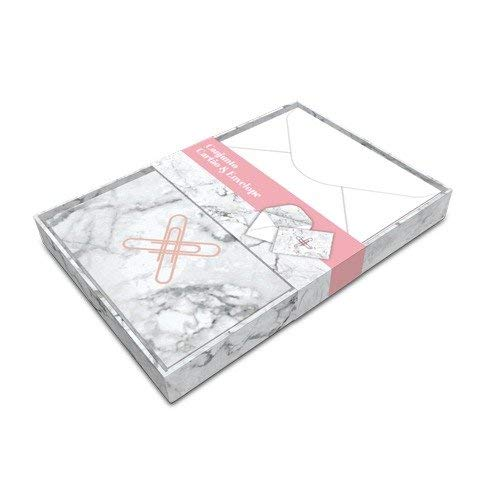 Envelope Otima Pink Stone com 10 Cartoes Mrm 25595