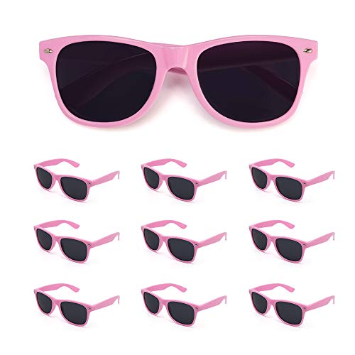 10 Pack Bulk Wholesale Party Sunglasses supplies,Perfect Personalized Party Favor for women men (Pink, -