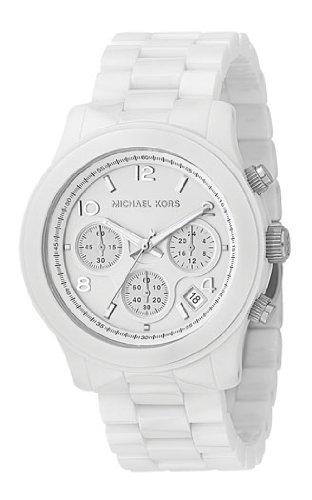 Michael Kors mk5163 Unisex Reloj con pulsera de cerámica color blanco y esfera blanca: Amazon.es: Relojes