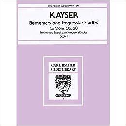36 Elementary /& Progressive Studies Heinrich Ernst Kayser Op Book 1 20