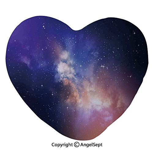 - AngelSept Heart Shaped Throw Pillows Stars in Sky Supernova Comet Constellation Light Years Meteor Planetary Image Home Sofa Cushion Couple Gifts, for Her,Party Decoration(45x50cm),Dark Blue Pur