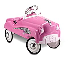 For kids of all ages from toy collectors to boys and girls who want to drive like mom and dad. Great nostalgic pedal cars to stimulate their wild imaginations and provide hours of fun!Offering a stylish, old-fashioned design with authentic de...