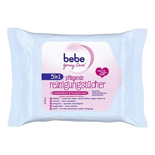 bebe Young Care 5in1 Pflegende Reinigungstücher, 3er Pack (3 x 25 Stück)