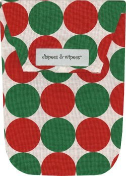 Disco Dot Diaper - Diapees & Wipees Santa Disco Dot Baby Diaper and Wipes Bag
