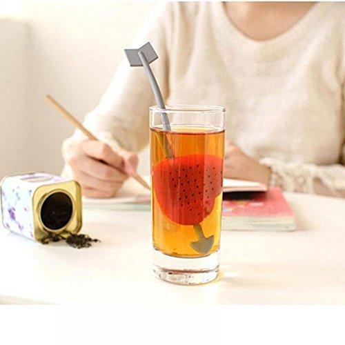 ShoppyStar New Heart Love Tea Bags Strainers Teaspoon Filter Infuser Plastic ()