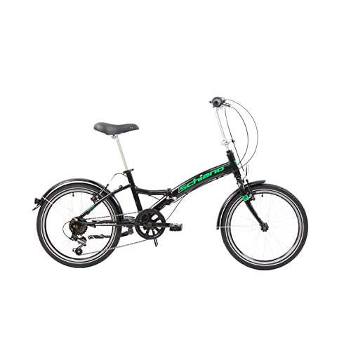 F.lli Schiano Pure Bicicleta Plegable, Unisex-Adult, Negro-Verde, 20'' a buen precio