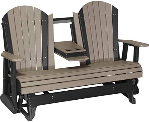 LuxCraft Recycled Plastic 5' Adirondack Glider Chair ()