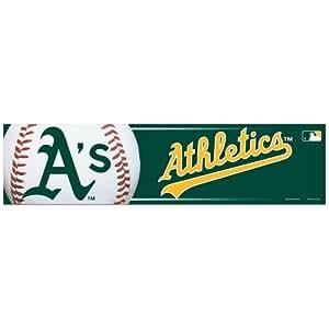 MLB Oakland Athletics Bumper Sticker, Team Color, One Size