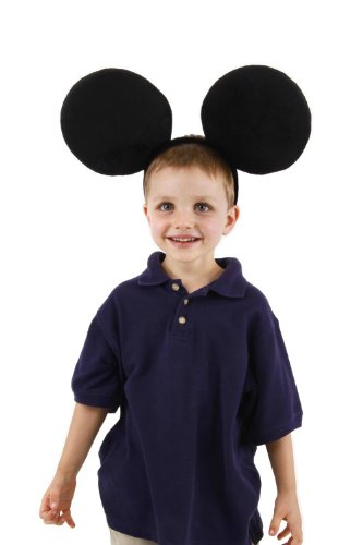 elope Disney Oversized Mickey Ears Headband, Black, One Size (Minnie Mouse Adult Outfit)