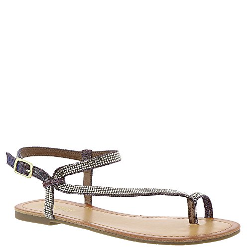 Kenneth Cole REACTION Women's Just Braid Toe Ring and Ankle Straps Flat Sandal, Gold/Multi, 9 M US