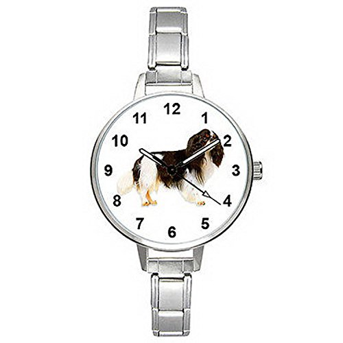 Spaniel Italian Charm Watch - BMTC502 Cavalier King Charles Spaniel Dog Italian Charm Bracelet Mens Ladies Watch