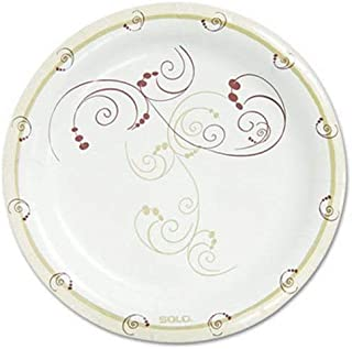 """product image for Symphony Paper Dinnerware, Mediumweight Plate, 8 1/2"""" Round, Tan, 125/Pack"""