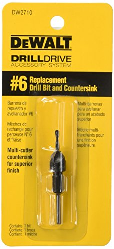 DEWALT DW2710 No.6 Replacement Drill Bit and Countersink - Countersink Replacement Bits