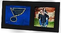"""KH Sports Fan 16""""X8"""" St. Louis Blues Colored Logo Black Single NHL Photo Frame"""