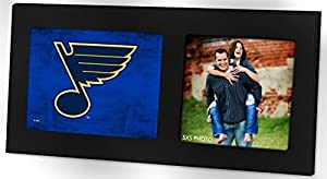 "KH Sports Fan 16""X8"" St. Louis Blues Colored Logo Black Single NHL Photo Frame"
