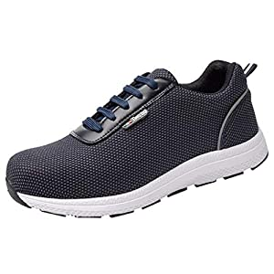 MTENG Mesh Breathable Work Shoes Safety Shoes Anti-Smashing and Puncture Safety Shoes (36-46)