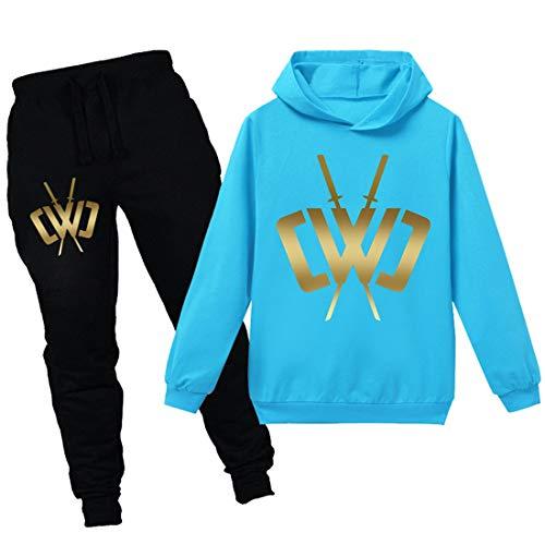N/F Chad Wild Clay Jongens Game Hooded Meisjes Trui en Broek Set CWC Kids Sportswear Tops