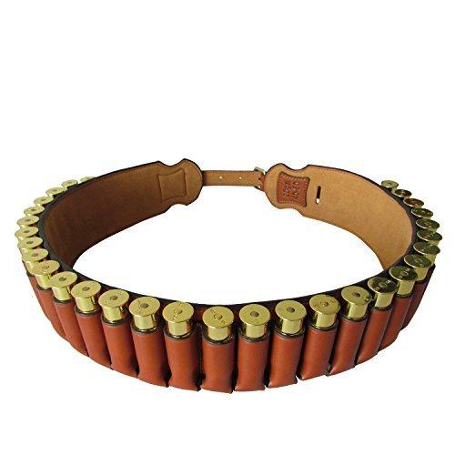 Correas de cartucho de Canana de cuero de Tourbon con 30 calibre redondo de conchas-20
