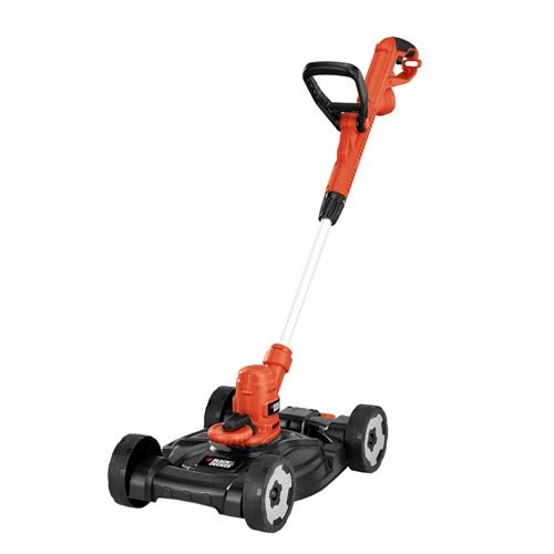 BLACK DECKER 3-in-1 String Trimmer Edger Lawn Mower, 6.5-Amp, 12-Inch MTE912
