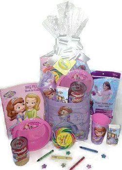 Disney Princess Sofia the First Gift Basket, Get Well Soon, Care Package, Kids Action Pack 10pc Bundle Includes: Sofia Coloring Book, Sofia Toy & Stickers, Sofia Cup & Bowl, Campbell's Soup + MORE