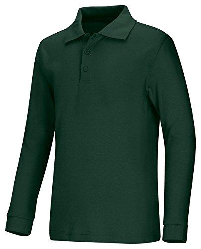 Interlock Polo (Classroom Uniforms 58732 Youth's LS Interlock Polo Hunter Green Medium)
