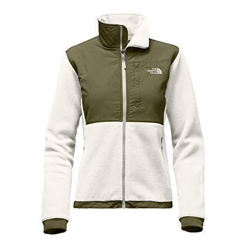 The North Face Green Denali Jacket - The North Face Women's Denali 2 Jacket - Vintage White/Burnt Olive Green, Medium