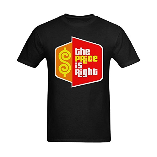 Drovion Men's Black The Price is Right Icon Design -