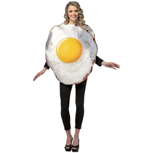 Egg Costume Women (Get Real Fried Egg Costume - One Size - Chest Size 48-52)