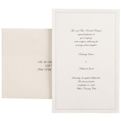 wilton 100 pack single border invitation ivory - Do It Yourself Wedding Invitation Kits